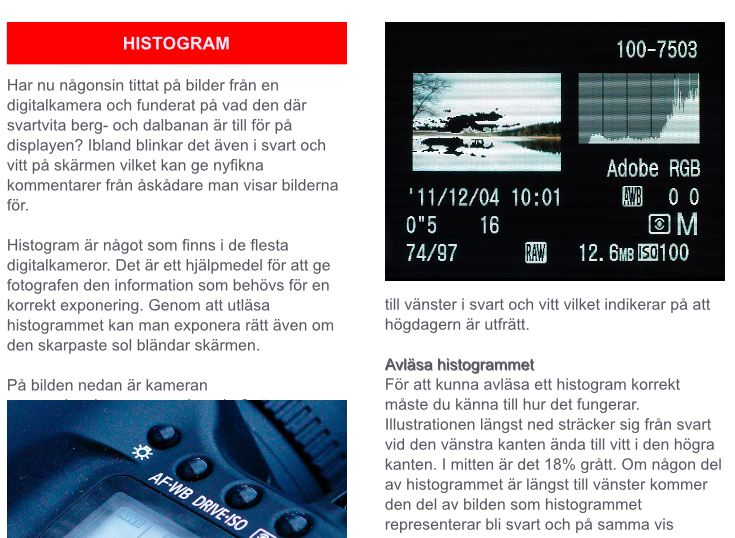 Fotokurs histogram