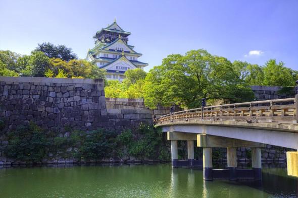 Osaka slott och bro
