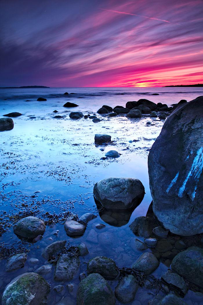 Solnedgång vid Sven Jons udde
