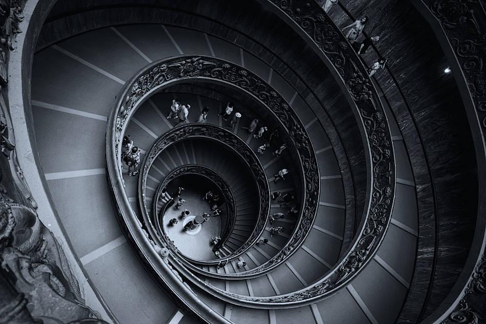 Trappan i Vatikanmuseerna