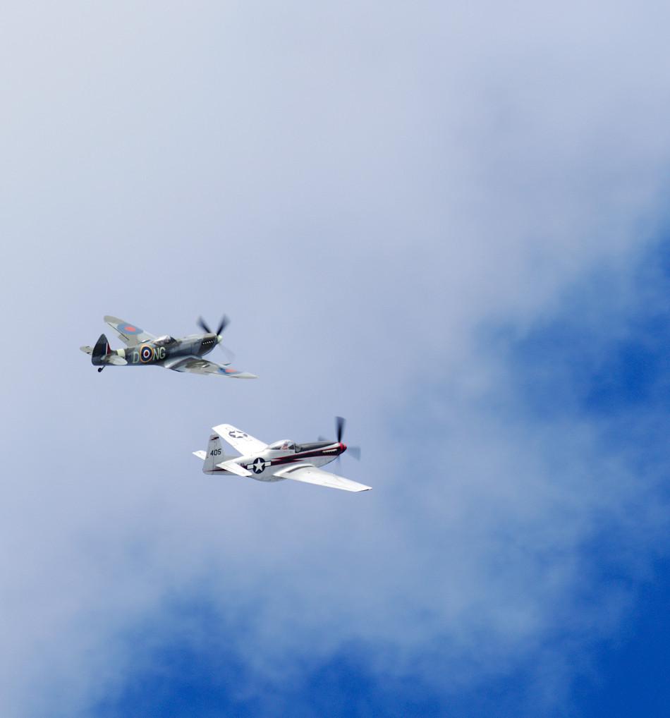 Spitfire och Mustang P51