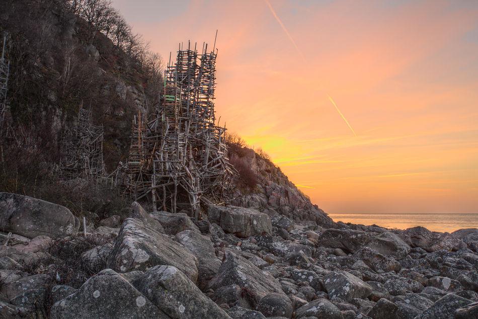 Vindarnas torn i solnedgång