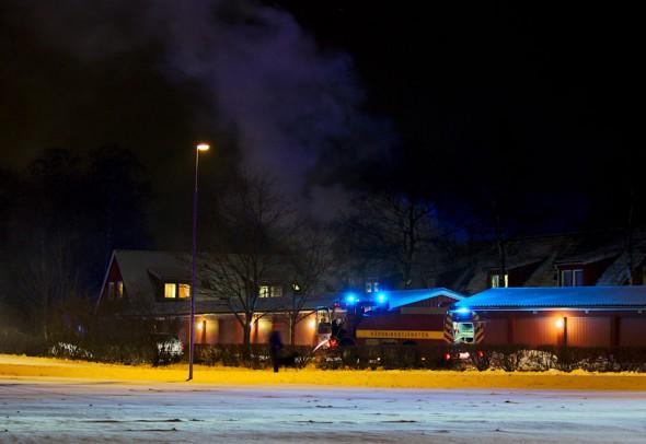 Brand på asylboende i Strövelstorp