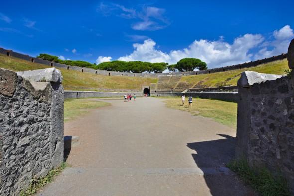 Insidan av Pompejis amfiteater