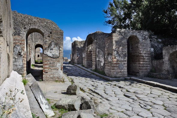 Herculaneumporten i Pompeji