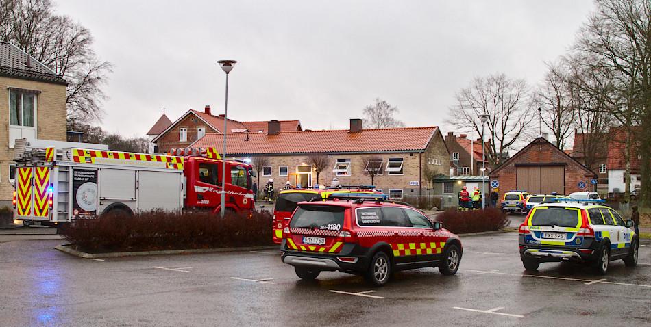 Brand i asylboende i Munka Ljungby