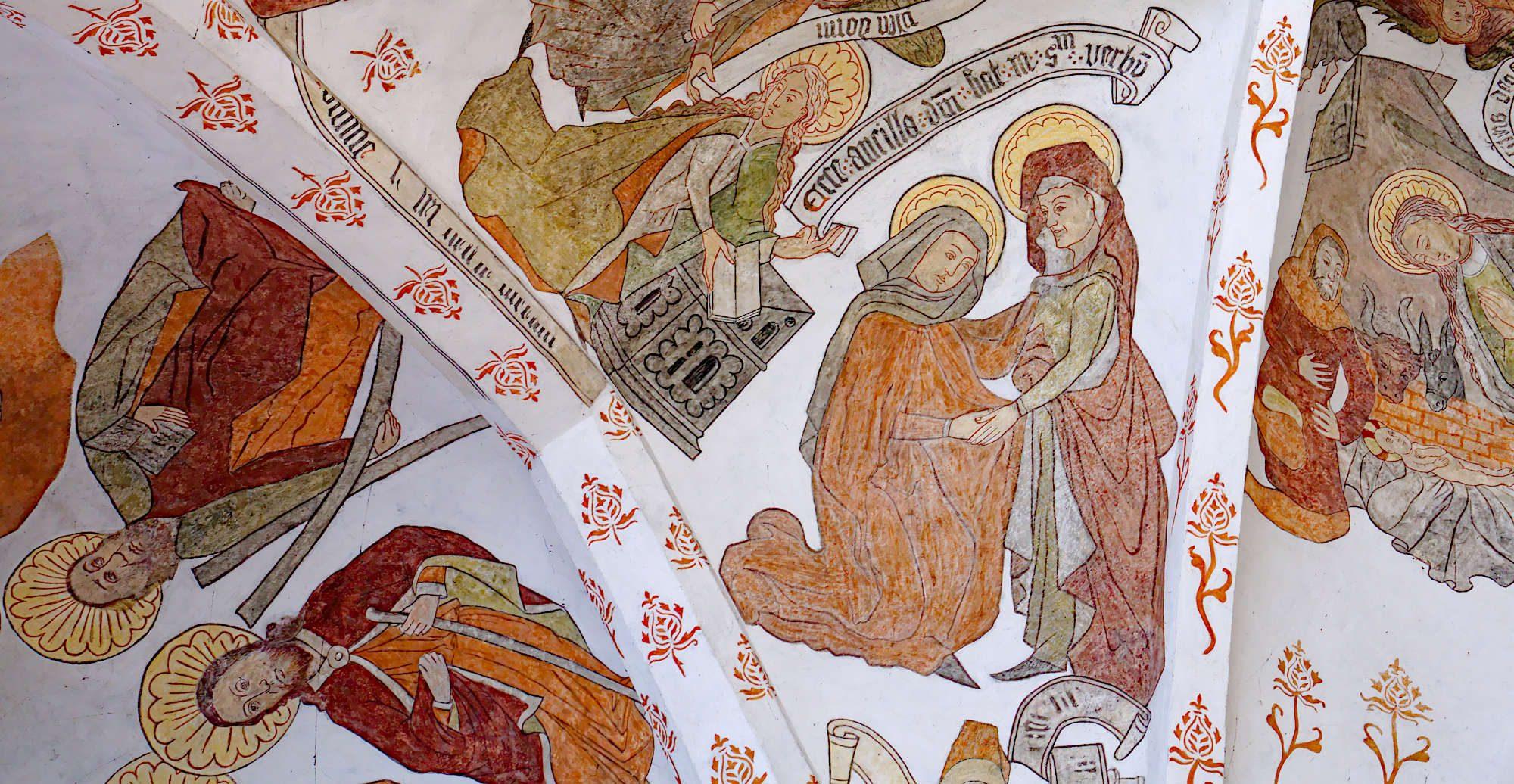 Kalkmålningar i Sankta Maria-kyrka