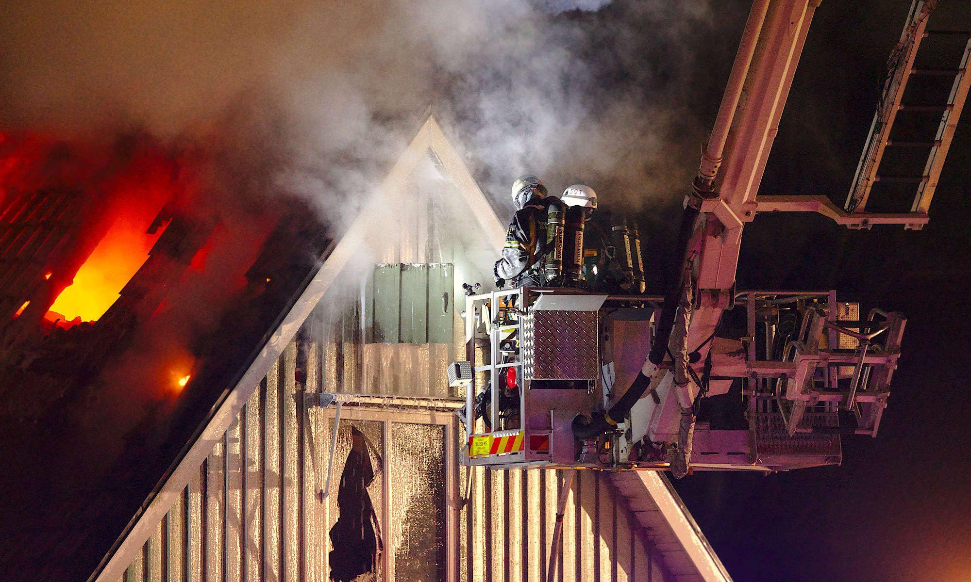 Hustaksbrand och hävare
