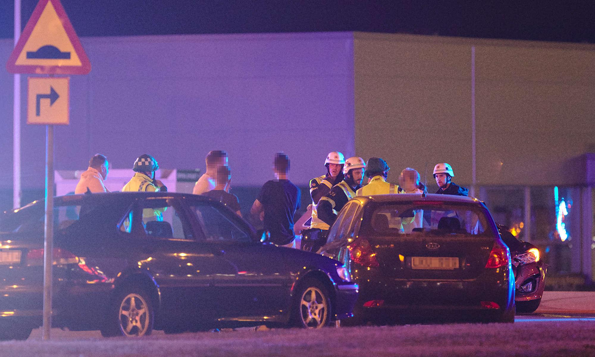 Trafikolycka utanför McDonalds i Ängelholm