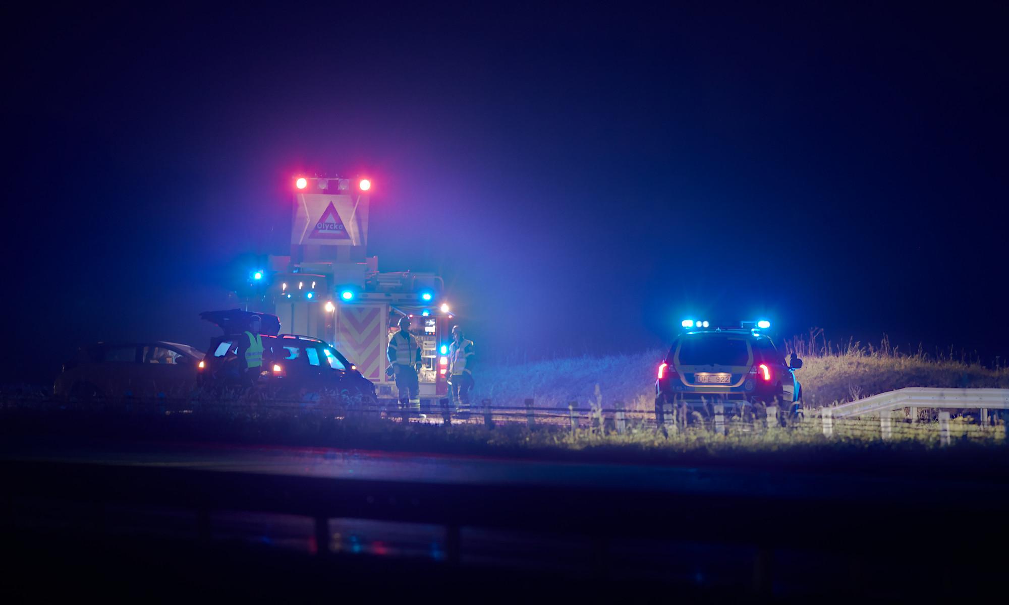 Trafikolycka på E6 vid Strövelstorp