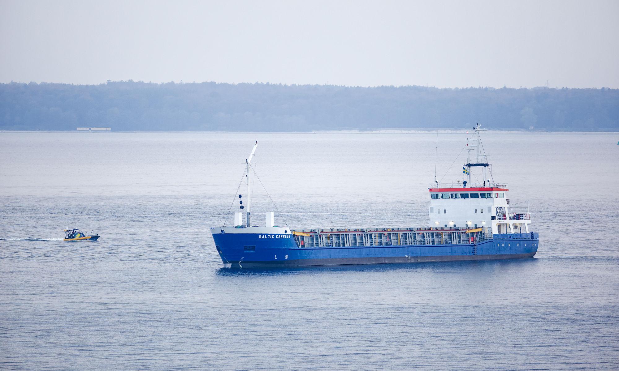 Baltic Carrier på grund utanför Hittarp