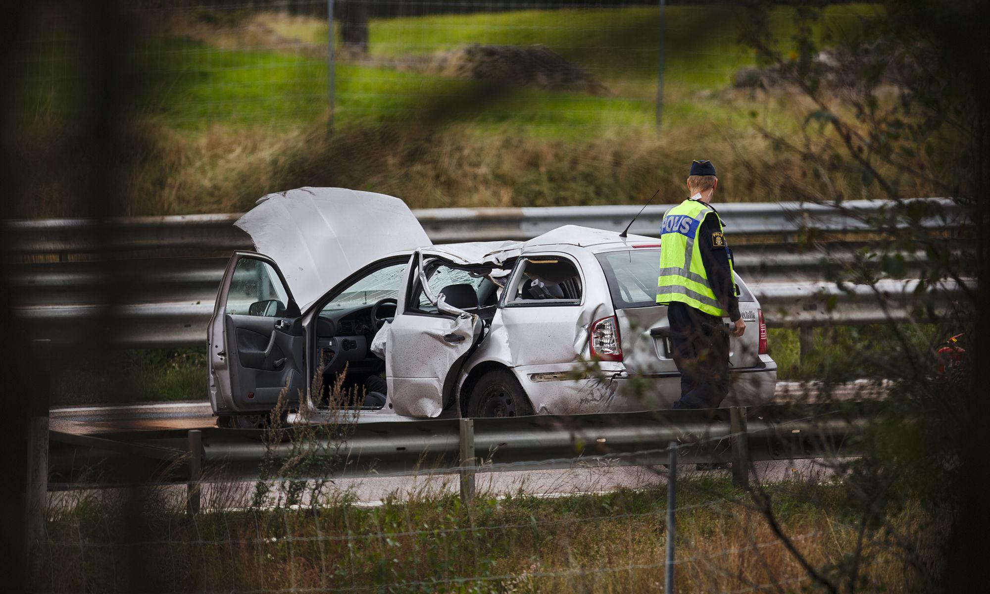 Trafikolycka på E6:an norr om Svenstorp