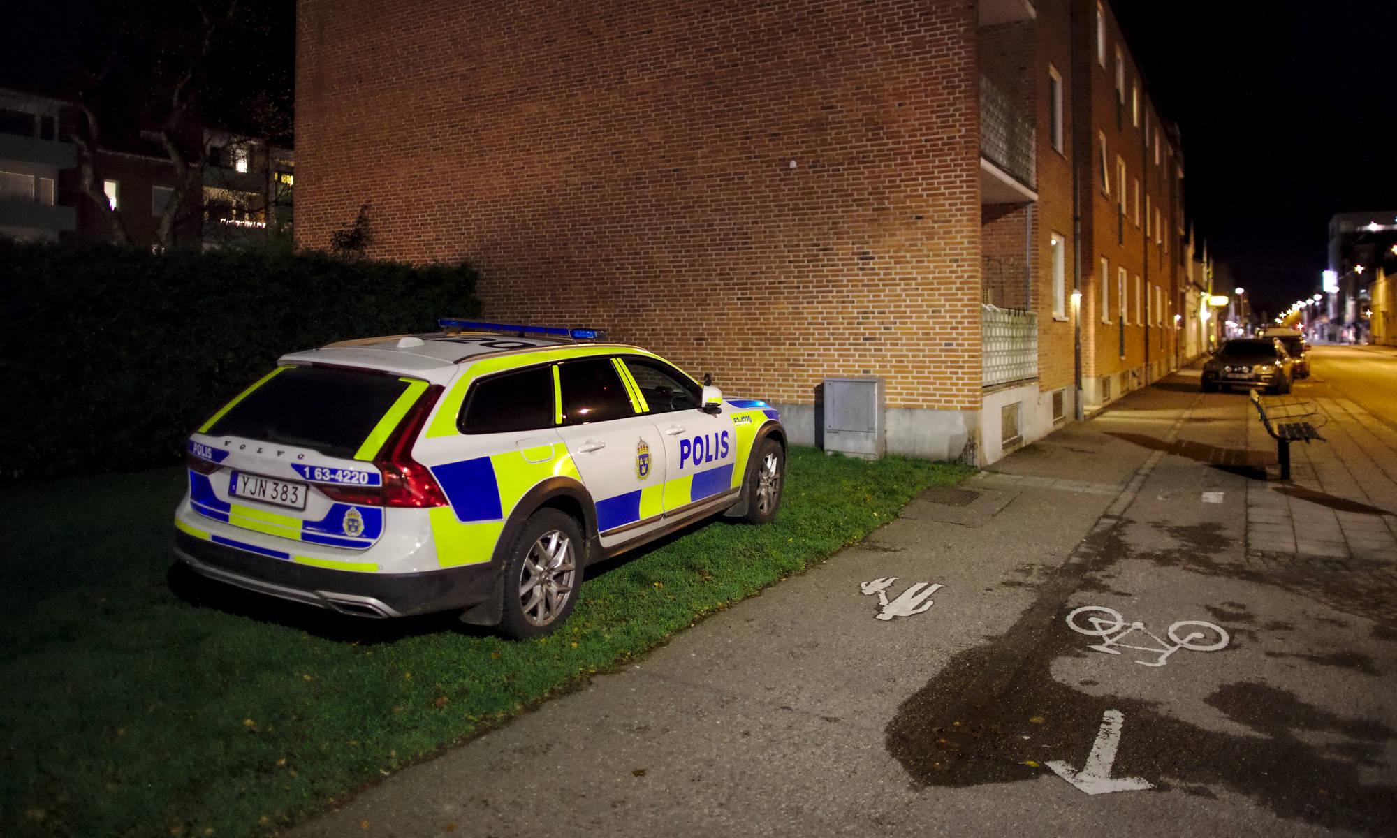 Polis sökte efterlyst i Ängelholm på Östergatan