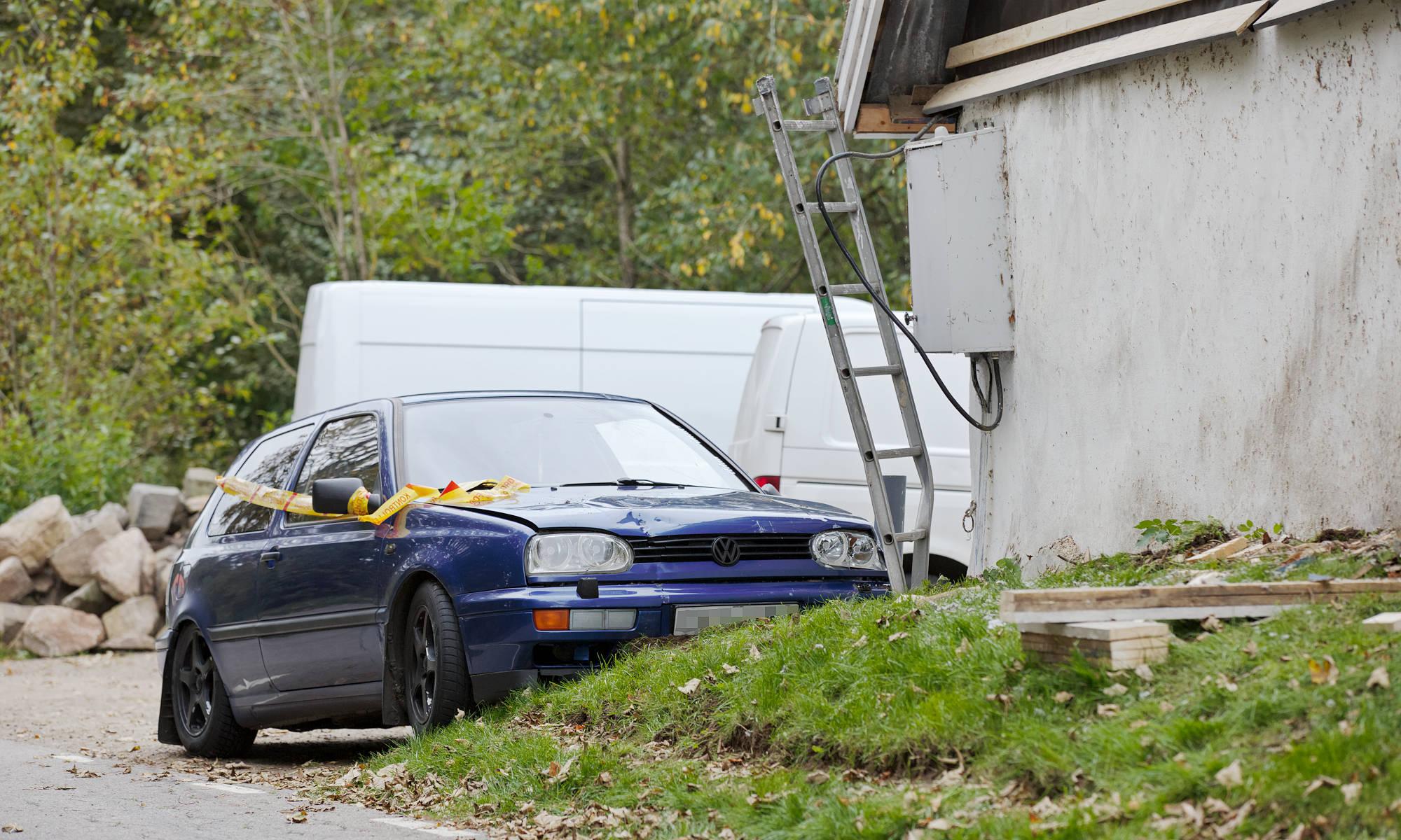 Smitare körde på man på stege i Skälderhus