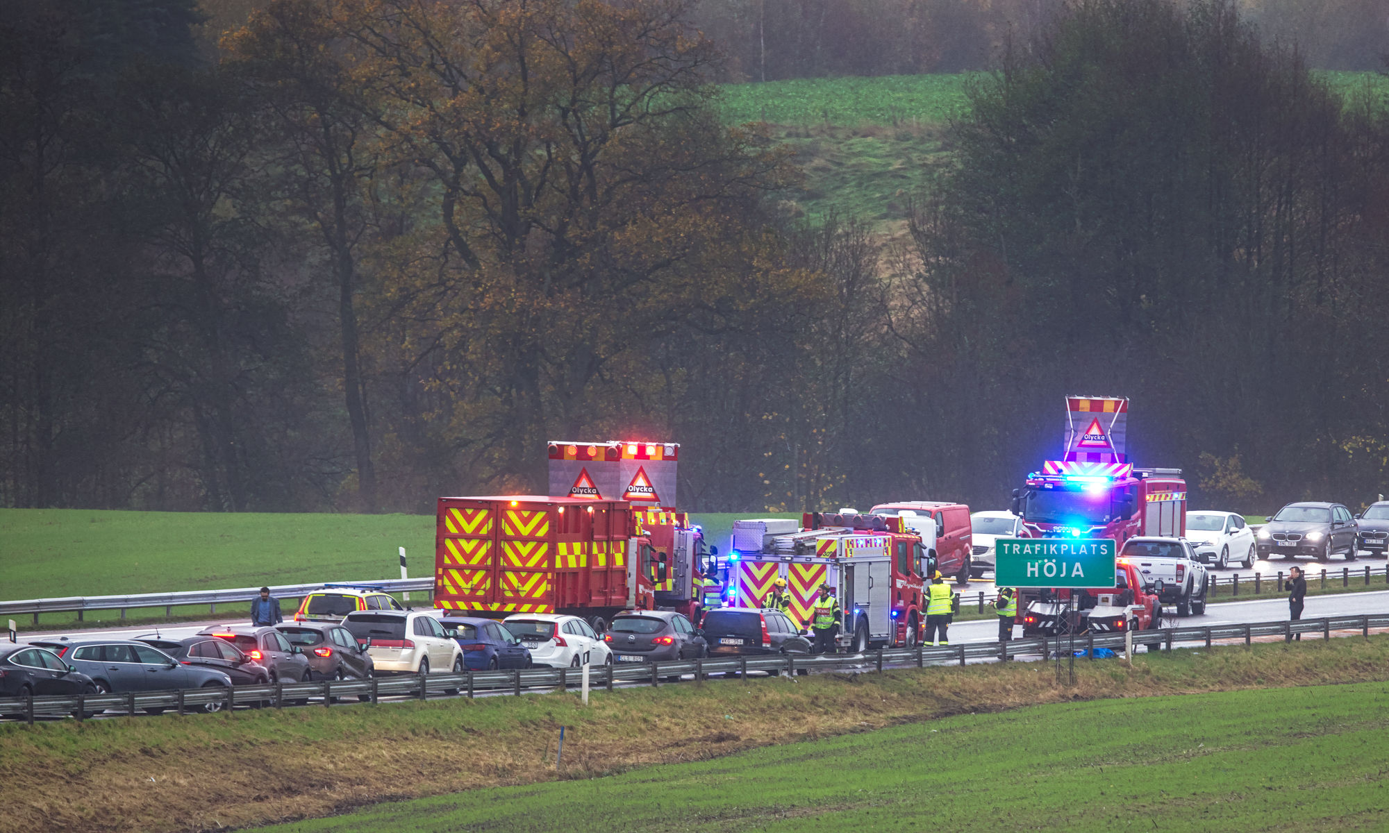 Trafikolycka på E6:an vid Rönneå