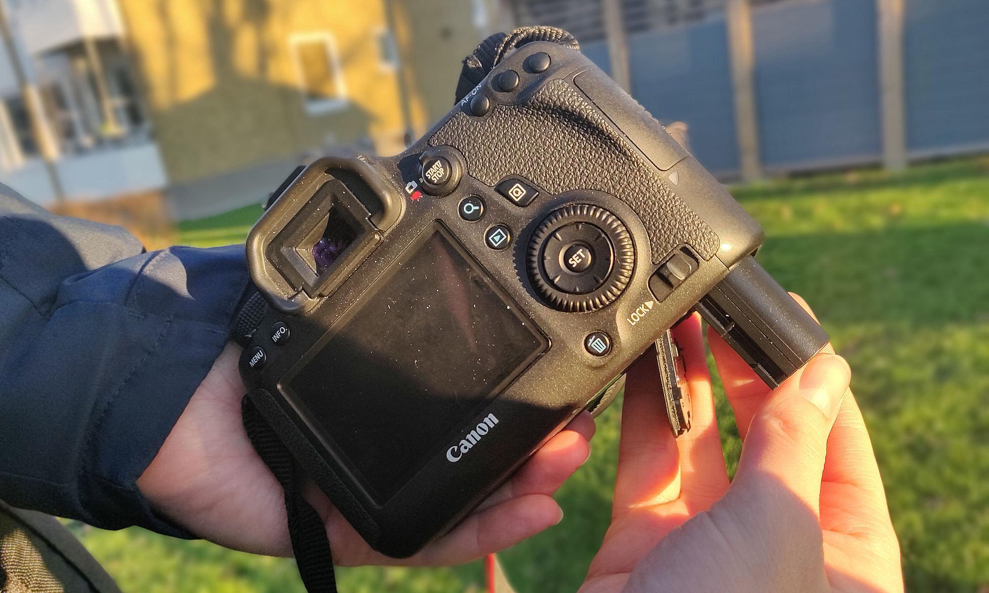 Batteri och Canon EOS 6D