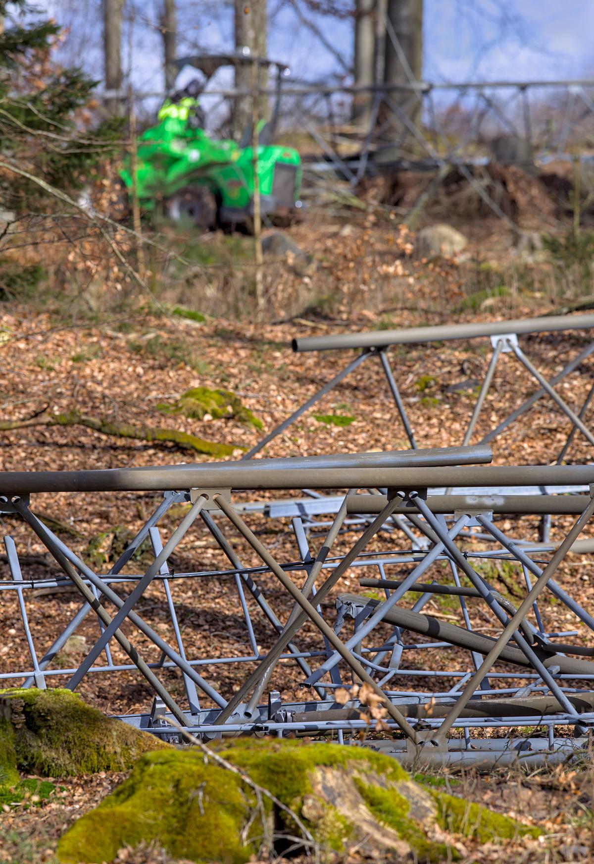 Mobilmast i delar efter sabotage i Örkelljunga