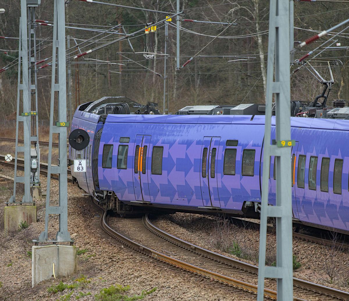 Urspårning av tåg i Ängelholm