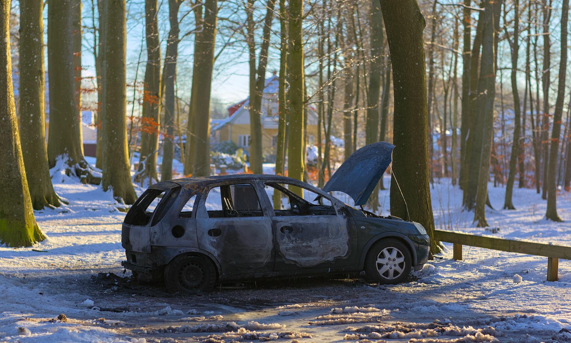Bilbrand i hembygdsparken