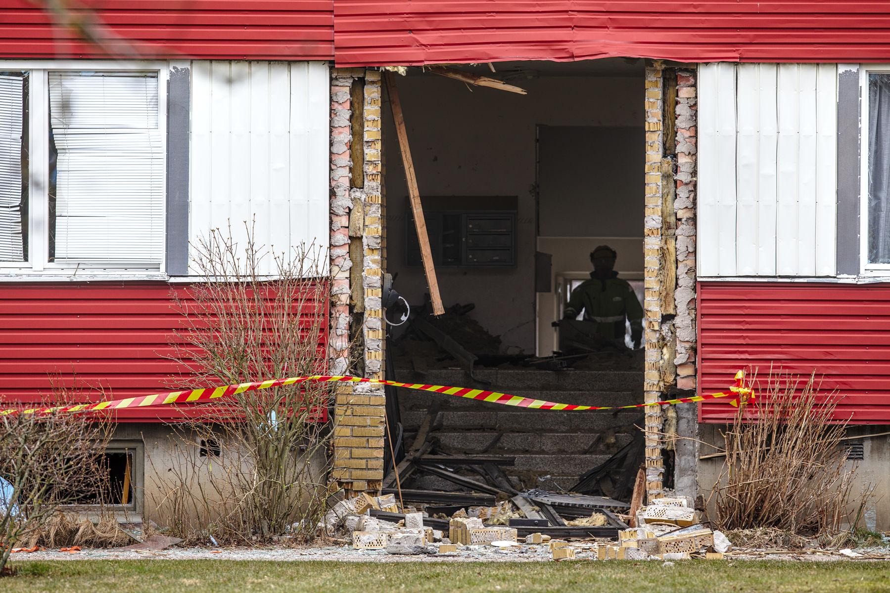 Explosion på Långarödsvägen 52A
